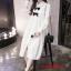 K1123559 เดรสคลุมท้องแฟชั่นเกาหลีโทนสีขาว thumbnail 7