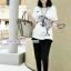 กางเกงฮาเร็มคลุมท้อง ขาขาว : สีดำ รหัส PN111 thumbnail 2