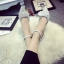 รองเท้าหนังสีขาวติดโบว์ thumbnail 4