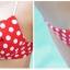 พร้อมส่ง ชุดว่ายน้ำ Bikini ผูกข้าง สีแดงแต้มลายจุดขาวน่ารัก สายคล้องคอ thumbnail 9