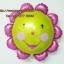ลูกโป่งฟลอย์ Pink Flower หน้ายิ้ม ไซส์เล็ก - Pink Flower Small size Foil Balloon / Item No. TL-A074 thumbnail 2