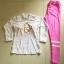 พร้อมส่ง ชุดว่ายน้ำแขนยาวขายาว เสื้อสีขาวสกรีนลายสีทอง กางเกงสีชมพูสวยๆ thumbnail 6