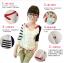 เสื้อคลุมแฟชั่นเกาหลี เย็บแต่งสีทูโทนสวยเก๋ น้ำเงิน-แดง thumbnail 2