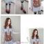 เสื้อคลุมท้องแขนสั้น ลายกระต่ายติดโบว์ : สีเทา รหัส SH017 thumbnail 2