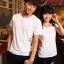 เสื้อยืดคู่รัก แฟชั่นคู่รัก ชาย + หญิง เสื้อยืดแขนสั้น เสื้อสีขาว สกรีนลายมือจับเอว +พร้อมส่ง+ thumbnail 5