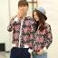 เสื้อกันหนาวคู่รักพร้อมส่ง แฟชั่นคู่รัก ชาย +หญิงเสื้อกันหนาวคู่รัก แบบซิบ ลายธงชาติเมกา thumbnail 3