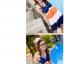 พร้อมส่ง ชุดว่ายน้ำทรงแซก เซ็ต 2 ชิ้น สายคล้องคอ สลับสีส้ม ขาว น้ำเงินสวยๆ thumbnail 5