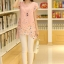 เสื้อตัวยาวแฟชั่นเกาหลี แต่งแบบ 2 ชั้น พิมพ์ลายตามภาพ ชั้นนิกบุลายดอกไม้สวยเก๋ สำเนา thumbnail 1