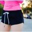 พร้อมส่ง ชุดว่ายน้ำแขนยาว เสื้อสีชมพูสวยๆ กางเกงขาสั้นสีดำ thumbnail 7