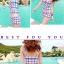 PRE ชุดว่ายน้ำคู่รัก ชุดว่ายน้ำ Tankini สายสปาเก็ตตี้ ลายสก๊อตน่ารักสดใส กางเกงกระโปรง thumbnail 3