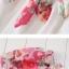 ชุดคลุมท้อง มีโบว์ผูก ลายดอกกุหลาบ : สีน้ำตาล รหัส CK238 thumbnail 3