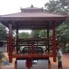 ศาลาโดม2ชั้น ที่นั่ง3ด้านไม้เบญจพรรณ