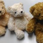 """ตุ๊กตาหมีน้อย size 9"""" มี3สี สีน้ำตาล สีขาว และสีเบจ"""