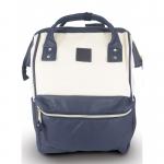 กระเป๋าเป้ Anello หนัง รุ่น AT-B1211 สี IVORY/NAVY (I/N)