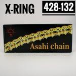 โซ่พระอาทิตย์ X-RING 428-132SL มีกิ๊ปล็อค สีธรรมดา