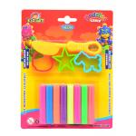 Clay 8 Neon Colors 100 g + 3 molds + Knife