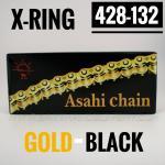 โซ่พระอาทิตย์ X-RING 428-132SL มีกิ๊ปล็อค (ทอง-ดำ)