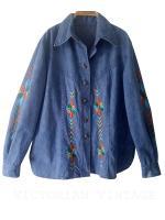 เสื้อยีนส์ วินเทจ ปักมือ Vintage Denim Embroidered