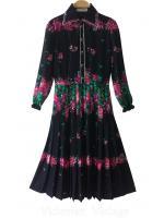 ชุดวินเทจ ลายเชิง งานญี่ปุ่น Vintage Dresses BRAND : PRET - A- PORTER