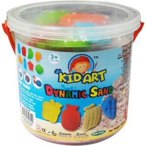 ทรายปั้นธรรมชาติ 1000 g + แม่พิมพ์ (Dynamic Sand 1000 g. 6 Colors + 8 Molds)