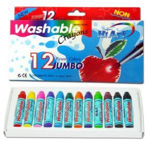 สีเทียน Kid Art ล้างออกง่ายขนาดจัมโบ้ 12 แท่ง (Kid Art Jumbo Washable Crayons)