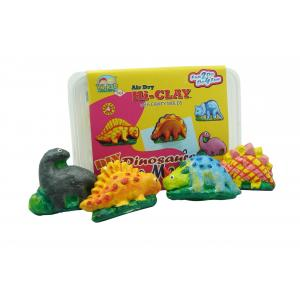 ดินธรรมชาติ :ชุดประดิษฐ์แม่เหล็กติดตู้เย็นรูปไดโนเสาร์ (D.I.Y. Air Hardening Clay: Dinosaur Memo Magnet)