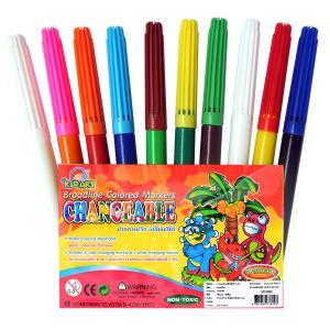 ปากกาเมจิกเปลี่ยนสีได้ 10 สี (Broad Line Markers Changable Colors 10 Ct.)