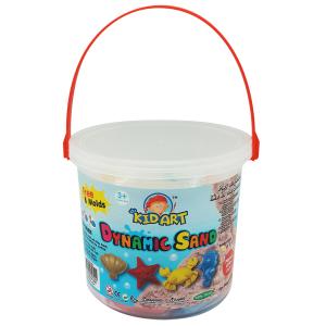 ทรายปั้นธรรมชาติ 1000 g + แม่พิมพ์ (Ocean Collection Dynamic Sand 1000 g. 6 Colors + 8 Molds)
