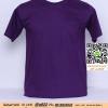 E.เสื้อยืด เสื้อt-shirt คอกลม สีม่วงเข้ม ไซค์ขนาด 32 นิ้ว
