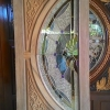 ประตูไม้สักกระจกนิรภัย แตงโมเต็มบาน เกรดA รหัส NNA180