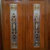 ประตูไม้สักกระจกนิรภัย โมเดิร์น เกรดA รหัสA16