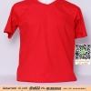 E.เสื้อยืด เสื้อt-shirt คอวี สีแดง ไซค์ขนาด 32 นิ้ว