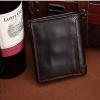 M VEN Leather Circle Dark Brown