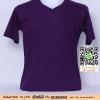 E.เสื้อยืด เสื้อt-shirt คอวี สีม่วงเข้ม ไซค์ขนาด 32 นิ้ว