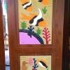 ประตูไม้สักบานเดี่ยว แกะปลา เกรดA,B+ รหัสAA05