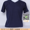E.เสื้อยืด เสื้อt-shirt คอวี สีกรม ไซค์ขนาด 32 นิ้ว