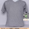 E.เสื้อยืด เสื้อt-shirt คอวี สีเทาท็อปดาย ไซค์ขนาด 32 นิ้ว
