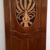 ประตูไม้สักบานเดี่ยว แกะรวงข้าว เกรดA,B+ รหัสAA07