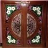 ประตูไม้สักกระจกนิรภัยNNA01
