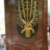 ประตูไม้สักบานเดี่ยว แกะรวงข้าว เกรดA รหัสC03