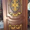 ประตูไม้สักบานเดี่ยว แกะหลุย เกรดA,B+ รหัสAA10
