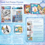 ชุดประดิษฐ์ โรยทรายสีกรอบรูปโฟรเซ่น (Frozen Sand Art Photo Frame)