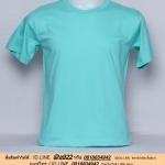 OL44.เสื้อยืด เสื้อt-shirt คอกลม สีเขียวมิ้นต์