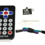 ชุดรีโมทย์ อินฟาเรด Arduino HX1838 VS1838 Arduino Infrared IR Wireless Remote Control Sensor Module Kits