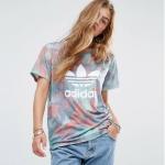 adidas Originals Pastel Camo Print Trefoil T-Shirt