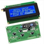 จอLCD 20*4 มาพร้อม I2C Blue Serial IIC/I2C/TWI 2004 204 20X4 Character LCD Module Display For Arduino 5V (I2C)