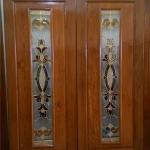 ประตูไม้สักกระจกนิรภัย โมเดิร์น เกรดA รหัส A34