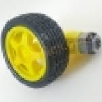 ชุดเฟืองขับพร้อมมอเตอร์ พร้อมล้อ DAI 66mm mart Car Robot Plastic Tire Wheel with DC 3-6v Gear Motor for arduino