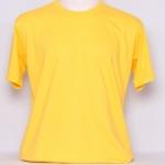 OL14.เสื้อยืด เสื้อt-shirt คอกลม สีเหลือง