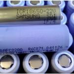 ถ่านชาร์จ 18650 Samsung ICR18650-22V 3.7v 2200mAh